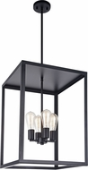 Matteo C76004BK Flare Modern Black Foyer Lighting Fixture