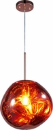 Matteo C76801CP Galactic Modern Copper LED Pendant Hanging Light