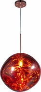 Matteo C76803CP Galactic Contemporary Copper LED Drop Lighting