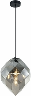 Matteo C78011SM Gemma Modern Smoked Glass Mini Pendant Light