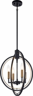 Matteo C78604BK Odyssey Modern Black Foyer Light Fixture
