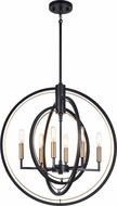 Matteo C78606BK Odyssey Contemporary Black Foyer Lighting Fixture