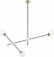 Matteo C78703AGCL Cosmic Contemporary Aged Gold Brass 50 Chandelier Light