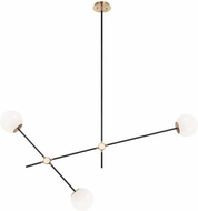 Matteo C78703AGOP Cosmic Contemporary Aged Gold Brass 50 Ceiling Chandelier