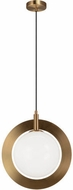 Matteo C80711AGOP Astro Contemporary Aged Gold Brass 10 Mini Hanging Light