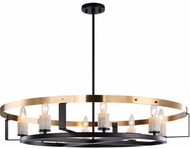 Matteo C82908BKAG Crandle Contemporary Black and Aged Gold Brass Chandelier Light