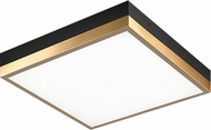 Matteo M11411BKAG Tux Modern Black and Aged Gold Brass LED 17 Ceiling Lighting Fixture