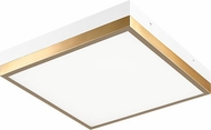 Matteo M11411WHAG Tux Contemporary White and Aged Gold Brass LED 17 Ceiling Light Fixture