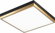 Matteo M11414BKAG Tux Contemporary Black and Aged Gold Brass LED 14 Flush Lighting