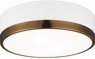 Matteo M14302WHAG Trydor Contemporary White and Aged Gold Brass 12 Overhead Lighting Fixture