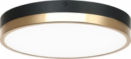 Matteo M15301BKAG Tone Contemporary Black and Aged Gold Brass LED Flush Mount Light Fixture