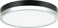 Matteo M15301BKCH Tone Contemporary Black and Chrome LED Flush Mount Lighting Fixture