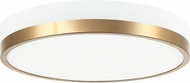 Matteo M15301WHAG Tone Modern White and Aged Gold Brass LED Flush Ceiling Light Fixture