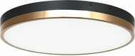 Matteo M15302BKAG Tone Modern Black and Aged Gold Brass LED Flush Mount Ceiling Light Fixture