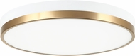 Matteo M15302WHAG Tone Contemporary White and Aged Gold Brass LED Overhead Light Fixture