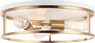 Matteo M15503WHAG Clarke Contemporary White and Aged Gold Brass Overhead Lighting Fixture