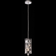 Matteo M21002 Glass-Encased Bubble Droplet Modern Chrome Halogen Mini Pendant Lighting