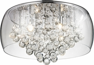 Matteo M31004 Glass-Encased Bubble Droplet Contemporary Chrome Halogen 16  Ceiling Light