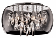 Matteo M31005 Glass-Encased Crystal Droplet Chrome Halogen 20  Ceiling Light Fixture