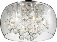 Matteo M31006 Glass-Encased Bubble Droplet Modern Chrome Halogen 20  Ceiling Lighting Fixture