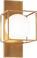 Matteo S03811AG Squircle Modern Aged Gold Brass Wall Light Sconce