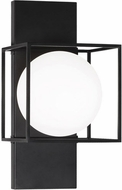 Matteo S03811BK Squircle Contemporary Black Wall Lighting Fixture