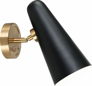 Matteo S05201BK Blink Black Wall Swing Arm Lamp