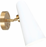 Matteo S05201WH Blink Modern White Swing Arm Wall Lamp