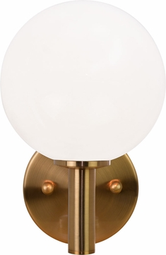 Matteo S06001AGOP Cosmo Aged Gold Brass Wall Lamp