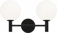 Matteo S06002BKOP Cosmo Black 2-Light Bathroom Wall Sconce