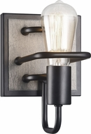 Matteo S06201WD Napa Rustic Wood Grain Lamp Sconce