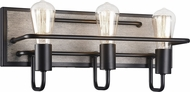 Matteo S06203WD Napa Country Wood Grain 3-Light Bathroom Light Fixture
