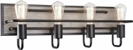 Matteo S06204WD Napa Rustic Wood Grain 4-Light Bathroom Vanity Lighting