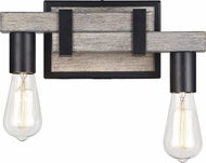Matteo S06302WD Toledo Rustic Wood Grain 2-Light Bathroom Vanity Light