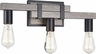 Matteo S06303WD Toledo Rustic Wood Grain 3-Light Bathroom Sconce