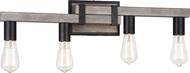 Matteo S06304WD Toledo Country Wood Grain 4-Light Bath Sconce
