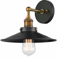 Matteo W46111WGBK Bulstrode's Workshop Contemporary Warm Gold / Black Wall Sconce Lighting