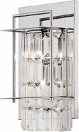 Matteo W47002CH Crystal Fiodo Chrome Halogen Wall Light Sconce