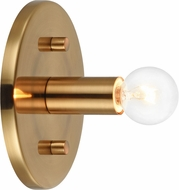 Matteo W54901AG Kasa Contemporary Aged Gold Brass Wall Sconce Light