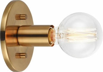 Matteo W54911AG Kasa Contemporary Aged Gold Brass Sconce Lighting
