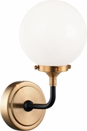 Matteo W58201AGOP Particles Modern Aged Gold Brass Wall Sconce Light