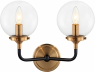 Matteo W58202AGCL Particles Contemporary Aged Gold Brass Wall Lighting