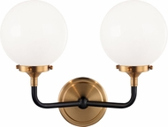 Matteo W58202AGOP Particles Modern Aged Gold Brass Sconce Lighting