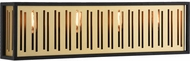 Matteo W67704MB Goldenguild Contemporary Matte Black and Brushed Gold 24 Bath Lighting Fixture