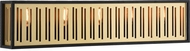 Matteo W67705MB Goldenguild Contemporary Matte Black and Brushed Gold 34 Bathroom Light Fixture