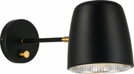 Matteo W73701BK Luca Contemporary Black Swing Arm Wall Lamp