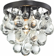 Matteo X00101BZ Crystal Fruit Vacio Bronze Ceiling Light Fixture