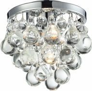 Matteo X00101CH Crystal Fruit Vacio Chrome Flush Lighting