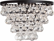 Matteo X00202BZ Crystal Fruit Vacio Bronze Flush Mount Lighting