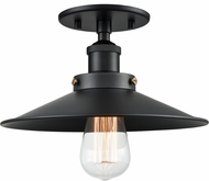 Matteo X46111BKBK Bulstrode's Workshop Contemporary Black 10.25  Flush Mount Ceiling Light Fixture